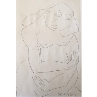 Milton Wilson Modernist Female Nude Drawing