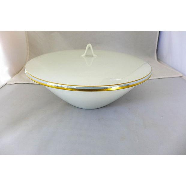 mid century serving bowl with lid chairish. Black Bedroom Furniture Sets. Home Design Ideas