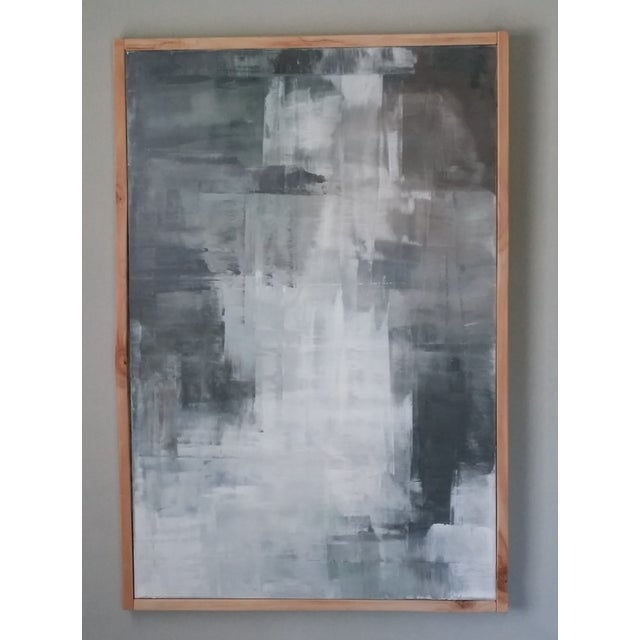 """Image of Kris Gould """"Midnight Sun"""" Abstract Painting"""