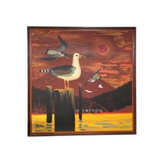 Lee Reynolds Sea Gull Painting on Canvas