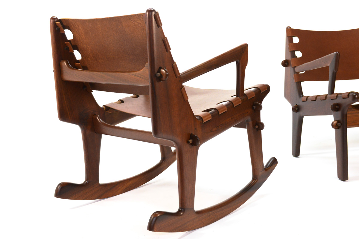 Angel Pazmino Rosewood Lounge And Rocker A Pair Chairish