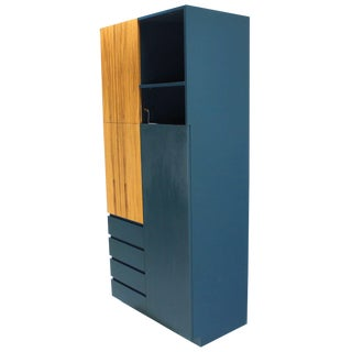 Signed Vladimir Kagan Modern Tall Liquor Cabinet Bar.