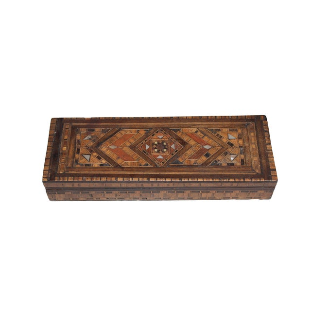 1900s Antique French Marquetry Box - Image 2 of 4