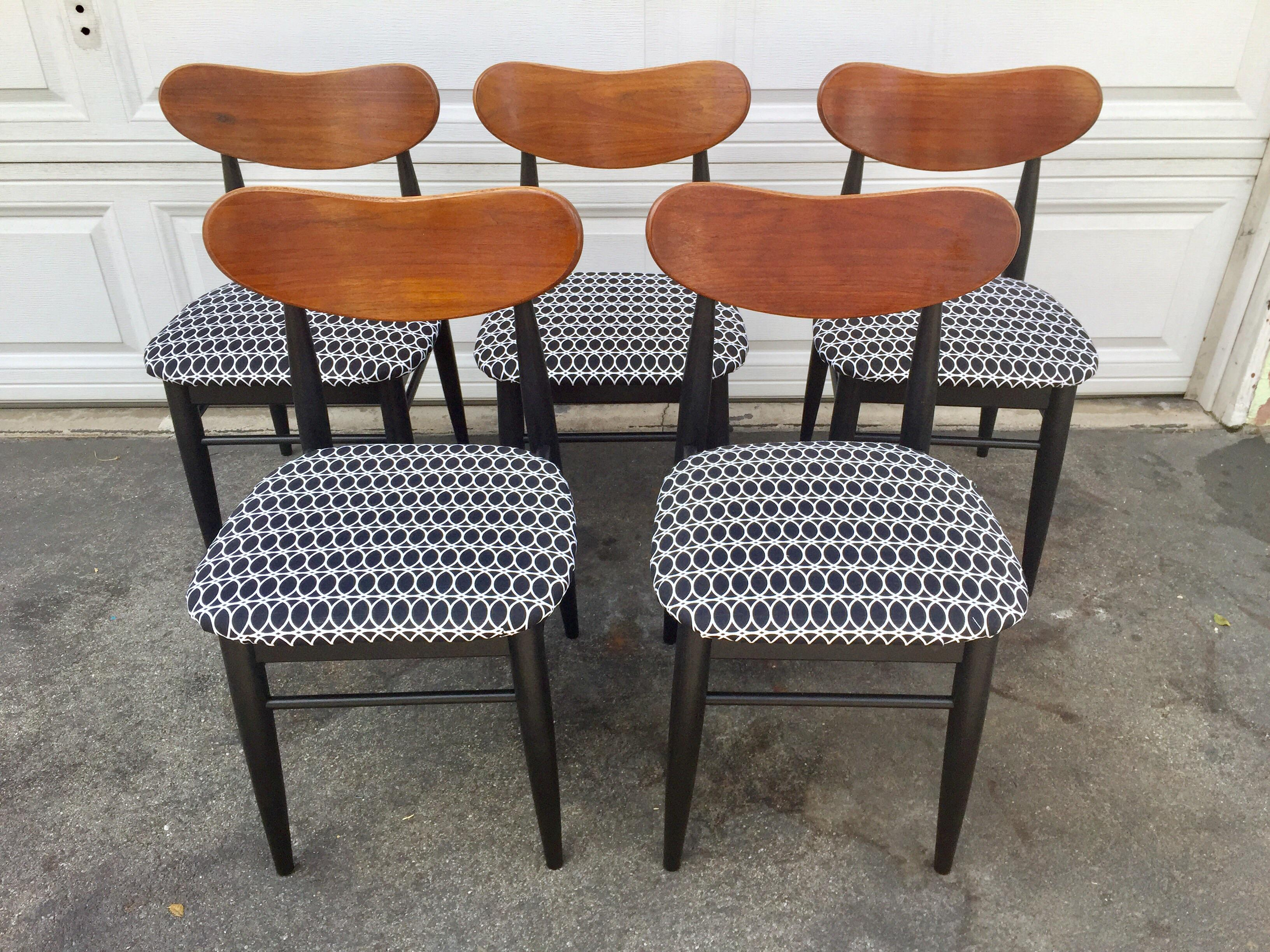 Vintage Walter Wabash Chairs   Set Of 5   Image 2 Of 6