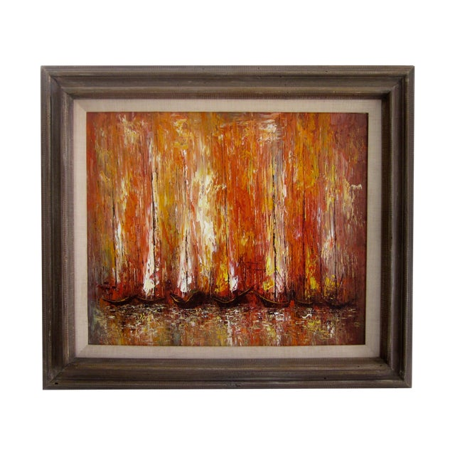 Modernist Abstract Painting - Cityscape/Waterscape - Image 1 of 11