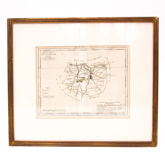 Image of Antique French Map of Dyle - Present Day Belgium