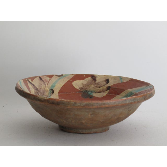 Terracotta Bowl with Flower Motif - Image 6 of 9