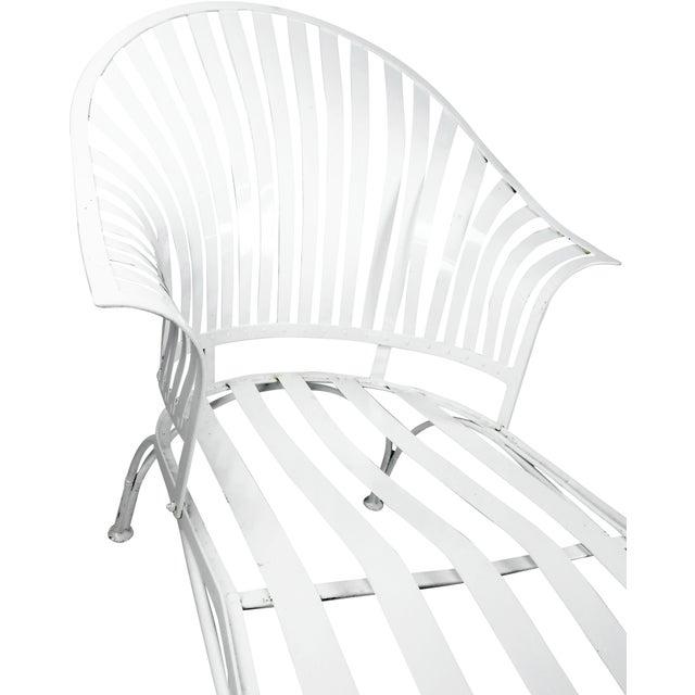 Francois Carre Vintage Fan Back Patio Chaise Lounge - Image 9 of 11