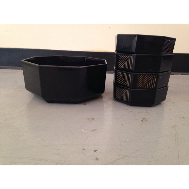 French Deco Geometric Bowls - Set of 5 - Image 2 of 5