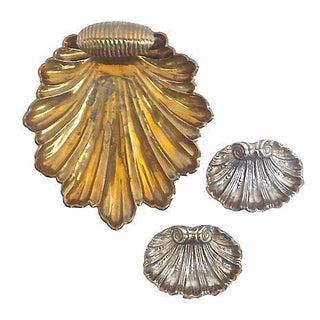Vintage Leaf & Shell Dishes - Set of 3