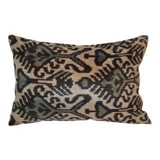 Kina Silk Velvet Ikat Pillow