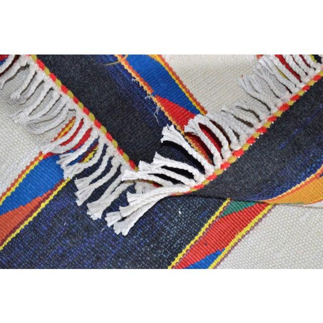 "Vintage Afghan Hand Knotted Kilim Rug - 6'7"" X 12'8"" - Image 10 of 10"