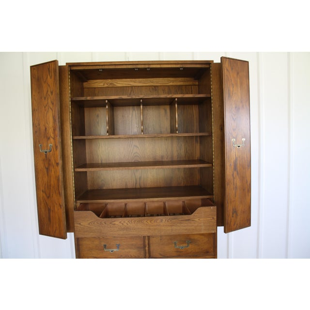 Henredon Campaign Style Armoire - Image 8 of 11
