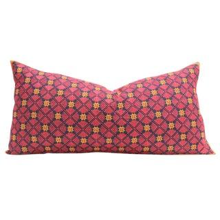 Pink Swati Floral Brocade Pillow
