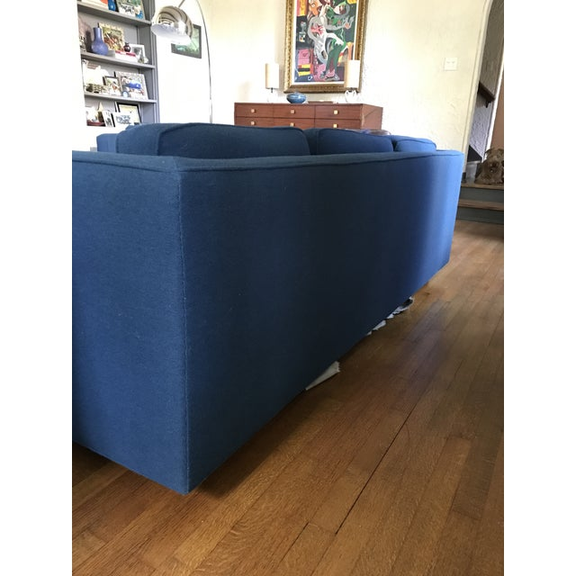1970s Marden Mid-Century Blue Upholstered Sofa and Chair - Image 3 of 11