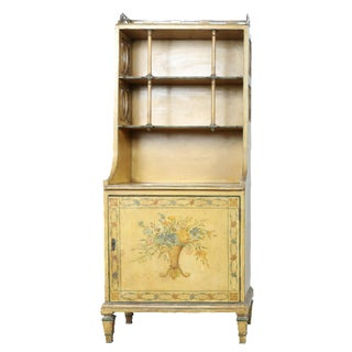 Hand-Painted Yellow Cabinet