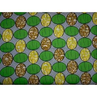 African Dutch Wax Ankara Fabric Lemonade 4 yd.