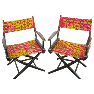 Groovy Revamped Directors Chairs - Set of 2