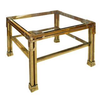 French Brass and Glass Cocktail Table