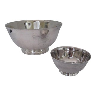 Vintage Silverplate Serving Bowls- 2 Pieces