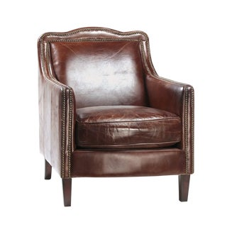 Chestnut Leather Arm Chair