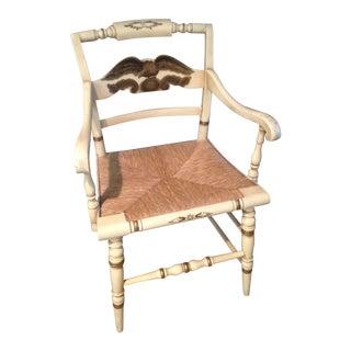 Vintage Original Hitchcock Eagle Arm Chair
