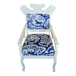 Handmade Arm Chair with Woodland Inspired Fabric