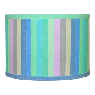 Ikat Stripe Drum Lamp Shade