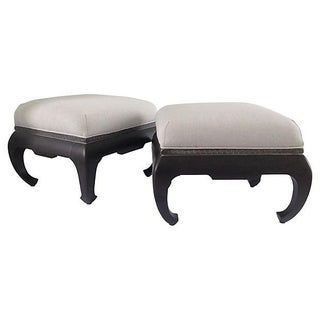 Century Furniture Greek Key Ming Benches - a Pair