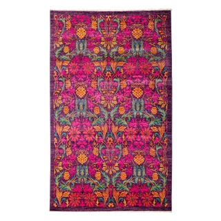 """Arts & Crafts, Hand Knotted Area Rug - 4'10"""" X 8'1"""""""