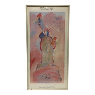 "Peter Max Signed ""Statue of Liberty"" Print"