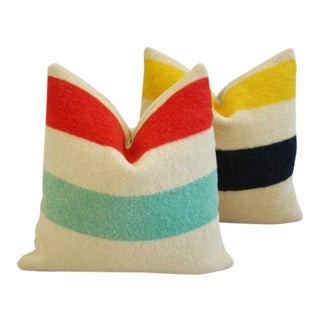 Multi-Striped Hudson's Bay Blanket Pillows - Pair