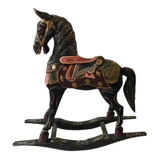 Vintage Decorative Carved Rocking Horse