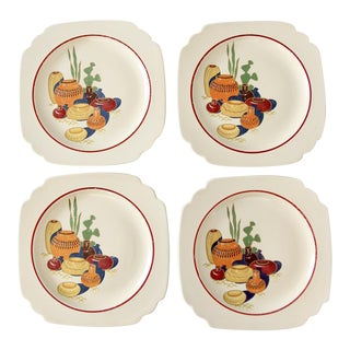 Homer Laughlin Mexicana lunch plates set/4