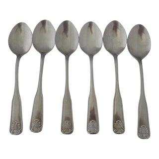 Shell Design Stainless Steel Tea/Dessert Spoons S/6
