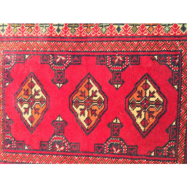 "Vintage Turkaman Red Persian Rug - 2'2"" x 2'9"" - Image 5 of 7"