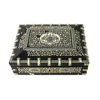 1800s Bone & Ebony Box