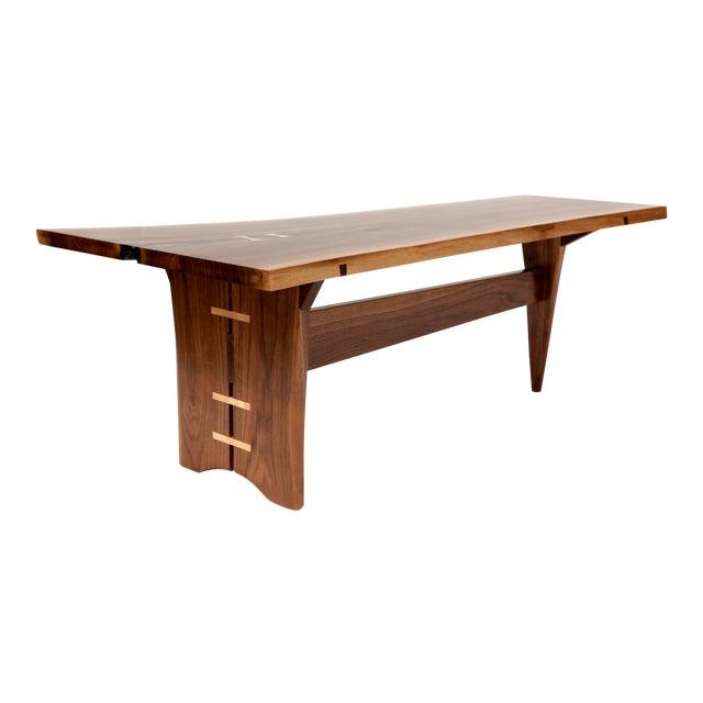 Mid-Century Modern Walnut Live Edge Slab Coffee Table - Image 1 of 6