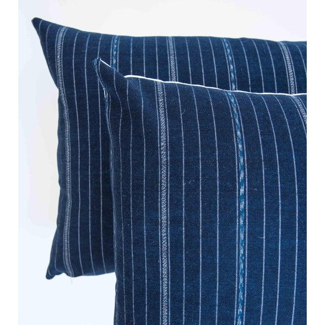 Vintage Guatemalan Indigo Pillow - Image 3 of 7