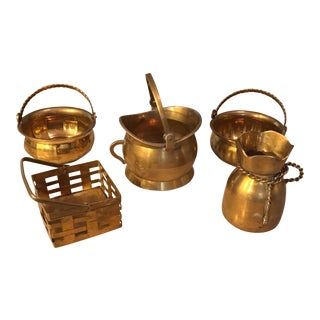 Small Brass Baskets - Set of 5