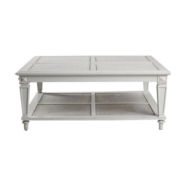 New Caned & Glass Coffee Table - Image 1 of 4
