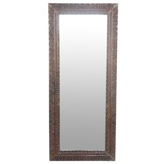 Antique Tribal Carved Mirror