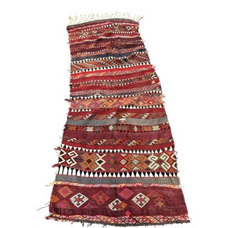 Handwoven Turkish Kilim Rug Runner - 3'3''x9'