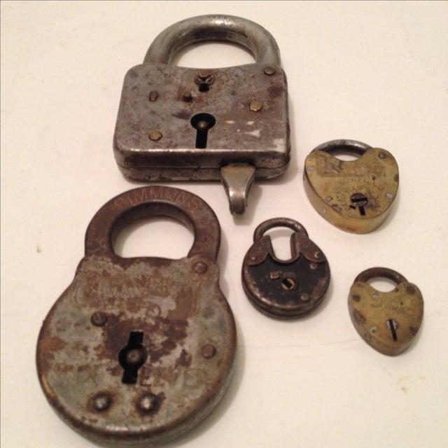 Assorted Antique Locks - Set of 5 - Image 2 of 6