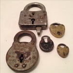 Image of Assorted Antique Locks - Set of 5