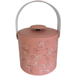 Georges Briard Pink Ice Bucket