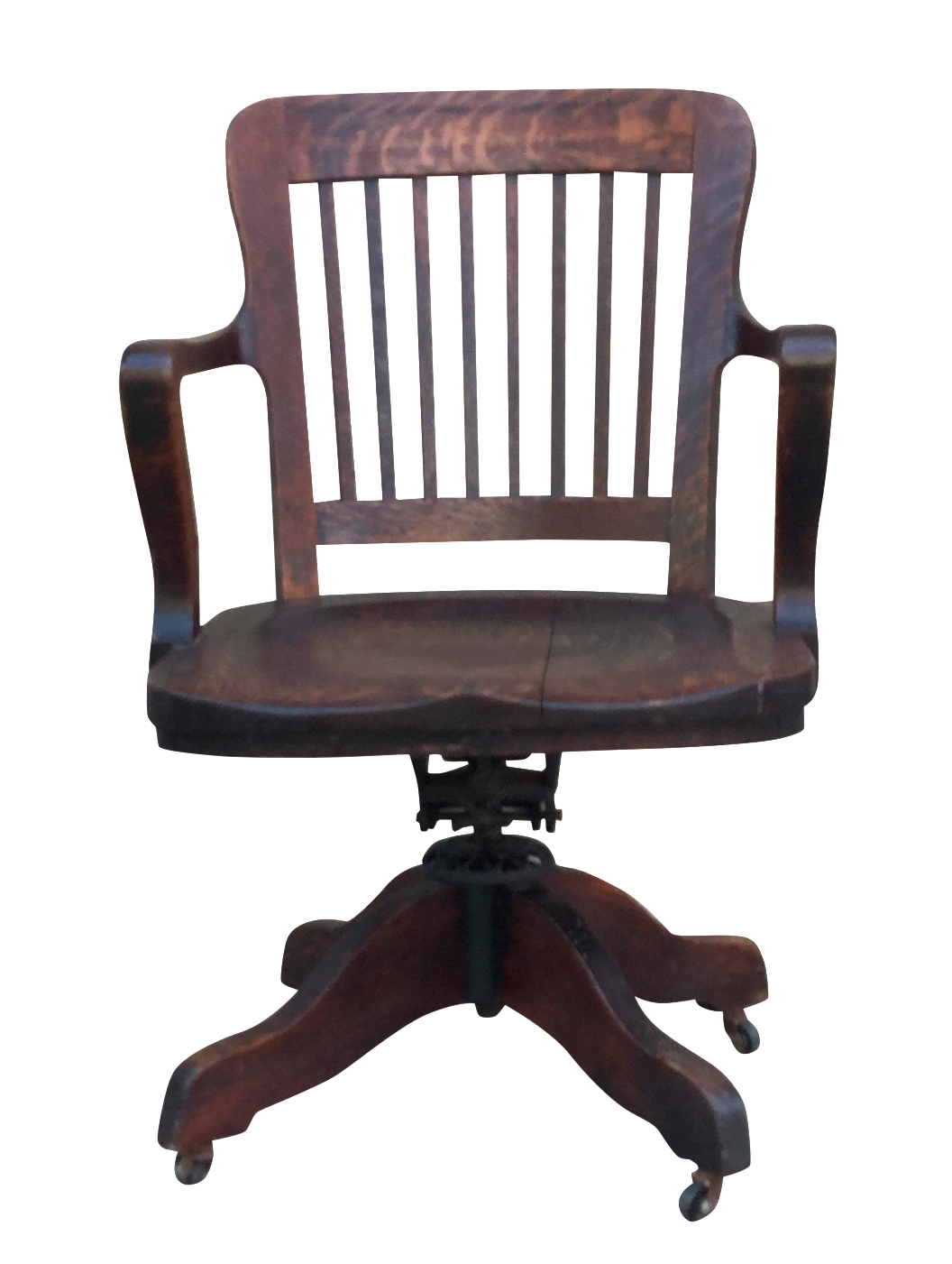 milwaukee chair company oak office chair | chairish
