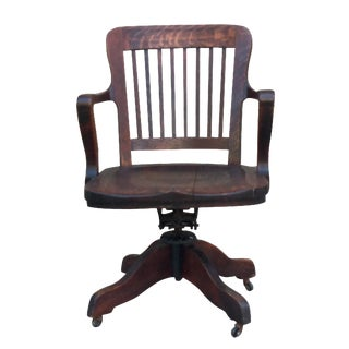 Milwaukee Chair Company Oak Office Chair