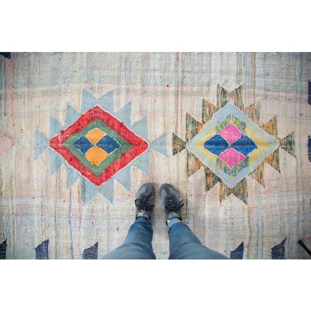 "Vintage Moroccan Rag Rug - 4'1"" X 8'6"""