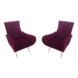 Marco Zanuso Italian Mid-Century Modern Lady Chairs - A Pair